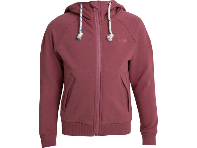 Tufte Wear Zip Hoodie Enfant, roan rouge